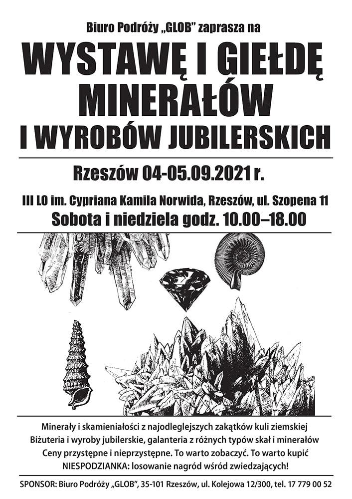 RZESZÓW - Wystawa i Giełda Minerałów, Skamieniałości i Wyrobów Jubilerskich w III LO im. C. K. Norwida @ ul. Szopena 11